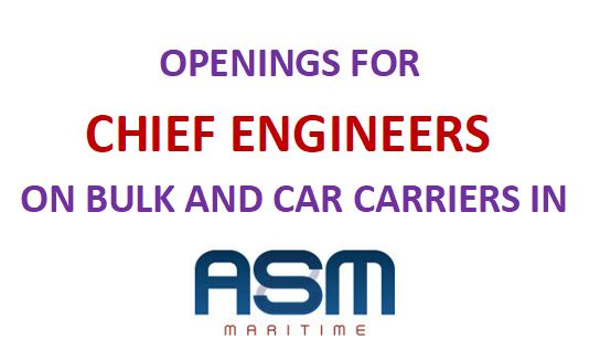 JOB OPENINGS FOR CHIEF ENGINEERS